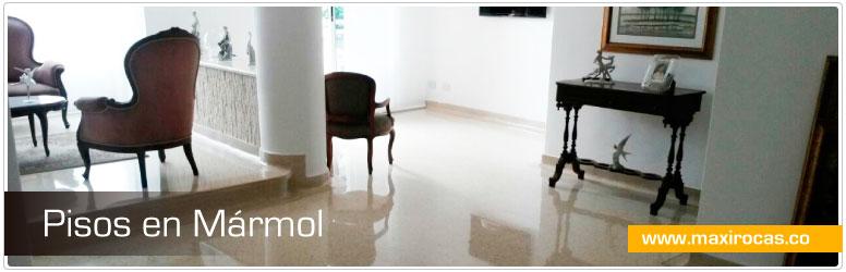 instalación de pisos en mármol realizada por Maxirocas S.A.S.